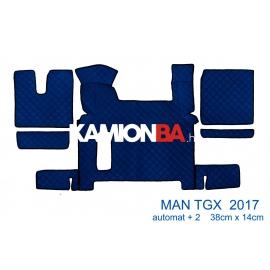 Teljes padló borítás Man TGX 2017 után (Két fiókos, aut. váltó)