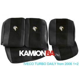 IVECO bőr üléshuzat TURBO DAILY 2006-tól 2+1