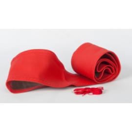 Valódi bőr Kormányvédő - piros