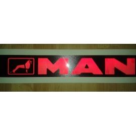 Gravírozott LED-es tábla MAN