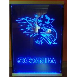 Gravírozott LED-es tábla SCANIA