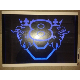 Gravírozott LED-es tábla SCANIA V8